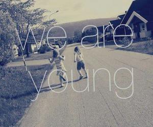 young, we are young, and quote image