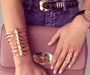 beauty, clutch, and style image