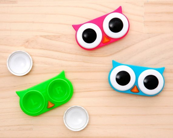 owl contact lense case and contact lense case image