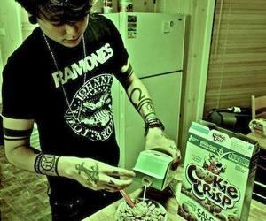 boy, ramones, and tattoo image