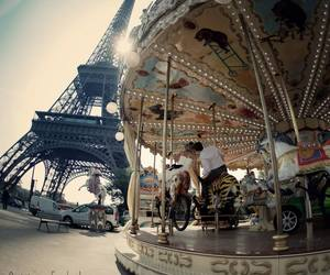 paris, love, and carousel image
