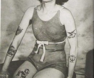 tattoo, vintage, and old image