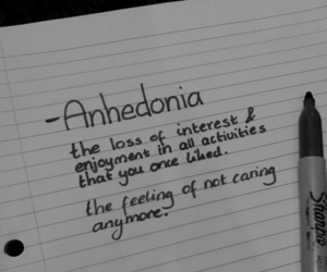 anhedonia, sad, and depression image