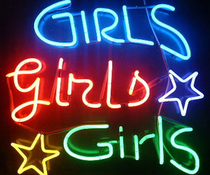 girls, star, and neon image