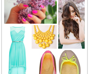 prom hairstyles, high low prom dress, and instylegirls image