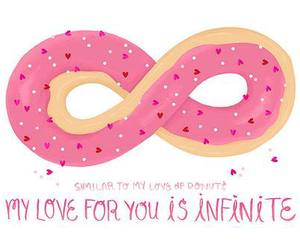 love, donuts, and pink image