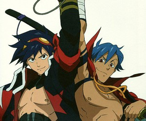 gurren lagann, kamina, and simon image