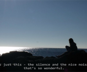 alone, girl, and noise image