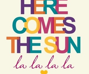 sun, the beatles, and here comes the sun image