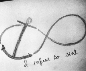 anchor, drawing, and infinity image