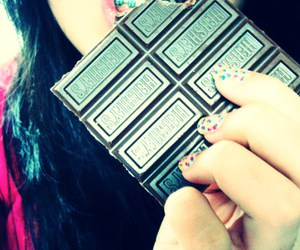 candy, nails, and chocolate image