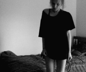 black, skinny legs, and black and white image