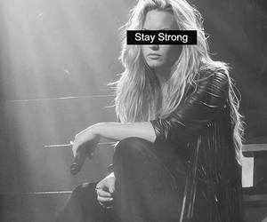 demi lovato, stay strong, and black and white image