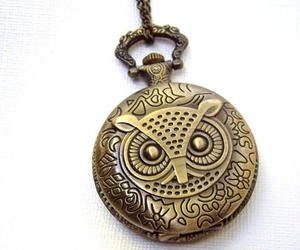 accessories, owls, and watch image