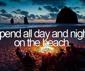 beach and bucket list image