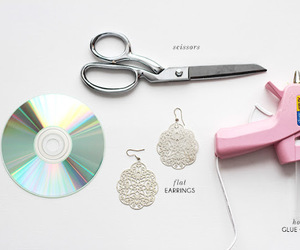 cd, scissors, and cool image