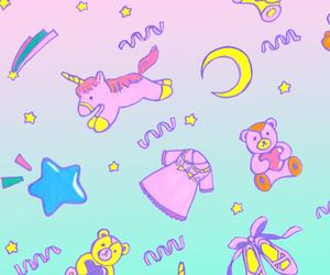 unicorn, background, and blue image