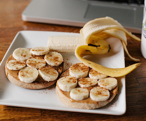 banana, food, and yummy image