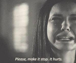 hurt, sad, and the vampire diaries image