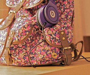beats by dre and school bag image