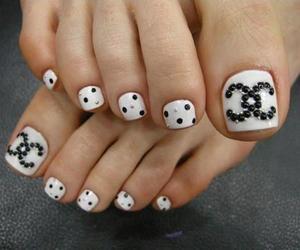 nails, chanel, and nail art image