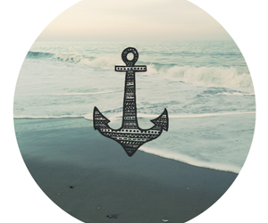 sea, anchor, and beach image