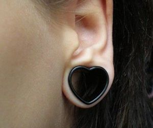heart, piercing, and Plugs image