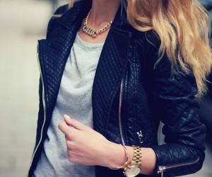 fashion, jacket, and blonde image
