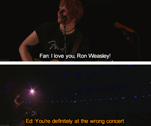 ed sheeran, funny, and ron weasley image