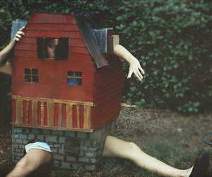 girl, house, and photography image