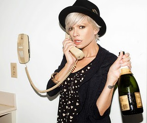 blonde, black, and champagne image