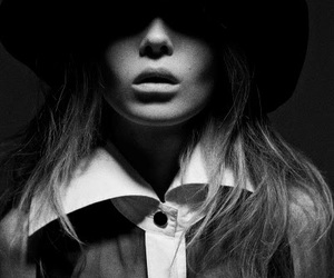 black and white, lips, and perfect image