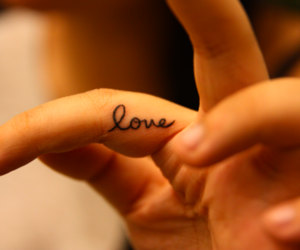 hand, tatto, and love image