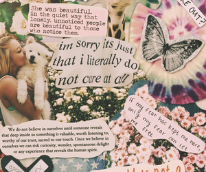 quote, Collage, and butterfly image