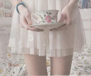 girl, tea, and dress image