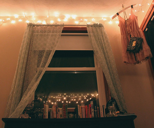 books, curtains, and delicate image