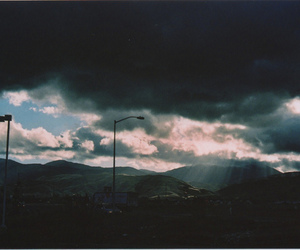 sky, clouds, and landscape image