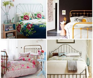 beds, vintage headboards, and lovely bedrooms image