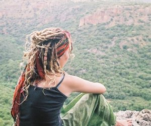 dreads, hippie, and nature image