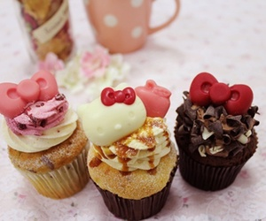 cupcakes, girly, and hello kitty image