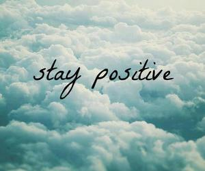 positive, quotes, and clouds image