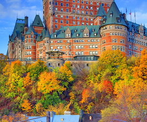 autumn, colorful, and hotel image