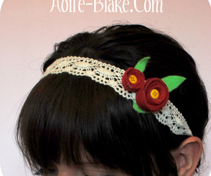 button, hairband, and handmade image