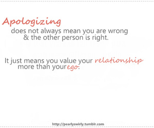 apologize, ego, and quote image