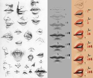 cool, draw, and mouth image