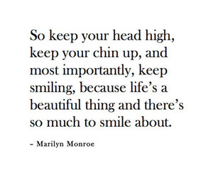 quote, Marilyn Monroe, and smile image