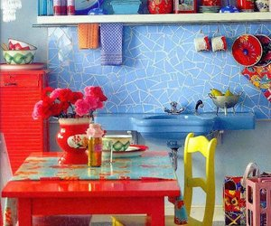 colors, design, and kitchen image