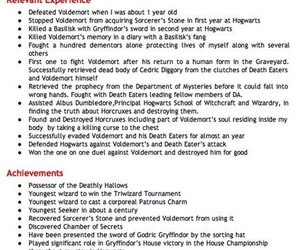 Charming Kidrauhl Within Harry Potter Resume
