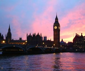 london and sunset image