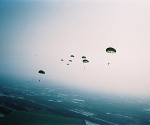sky, photography, and parachute image
